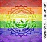 blaze emblem on mosaic... | Shutterstock .eps vector #1208984485
