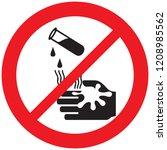 danger corrosive warning sign  | Shutterstock .eps vector #1208985562