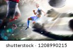 soccer players in action on the ... | Shutterstock . vector #1208990215