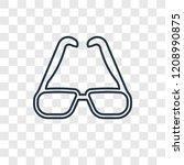rectangular eyeglass frame...   Shutterstock .eps vector #1208990875