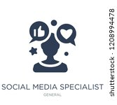 social media specialist icon.... | Shutterstock .eps vector #1208994478