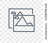 Pic concept vector linear icon isolated on transparent background, Pic concept transparency concept in outline style