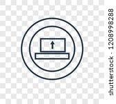 upload concept vector linear... | Shutterstock .eps vector #1208998288