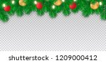 happy new year and christmas... | Shutterstock .eps vector #1209000412