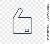 open box concept vector linear...