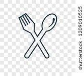 cutlery concept vector linear...