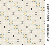 geometric embroidery style.... | Shutterstock .eps vector #1209021865