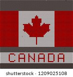 knitted flag of canada with a... | Shutterstock .eps vector #1209025108