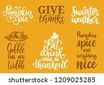 gobble till you wobble  sweater ... | Shutterstock .eps vector #1209025285