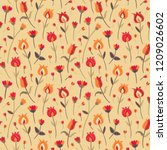 embroidery seamless pattern... | Shutterstock .eps vector #1209026602