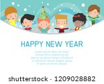 2019 happy new year design card ... | Shutterstock .eps vector #1209028882
