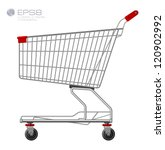 Shopping supermarket cart. Vector.