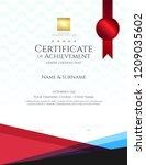 modern certificate template... | Shutterstock .eps vector #1209035602