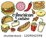 american traditional food... | Shutterstock .eps vector #1209042598