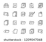 set of document icons  such as... | Shutterstock .eps vector #1209047068