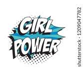 phrase girl power in retro...   Shutterstock .eps vector #1209047782