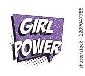 phrase girl power in retro...   Shutterstock .eps vector #1209047785