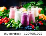 healthy and useful colorful... | Shutterstock . vector #1209051022