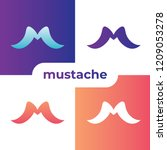 m letter mustache set icon | Shutterstock .eps vector #1209053278
