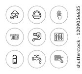 knob icon set. collection of 9... | Shutterstock .eps vector #1209056635
