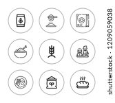 cereal icon set. collection of... | Shutterstock .eps vector #1209059038