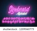 signboard script lettering... | Shutterstock .eps vector #1209060775