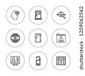 enter icon set. collection of 9 ... | Shutterstock .eps vector #1209063562