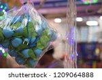 diwali led lights hanging in... | Shutterstock . vector #1209064888
