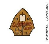 campsite logo emblem. vintage... | Shutterstock .eps vector #1209066808
