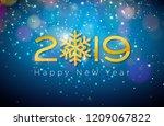 2019 happy new year... | Shutterstock .eps vector #1209067822