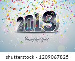 2019 happy new year... | Shutterstock .eps vector #1209067825
