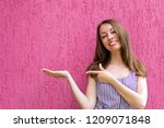 waist up portrait of lovely... | Shutterstock . vector #1209071848