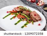 juicy medium beef fillet steaks ... | Shutterstock . vector #1209072358