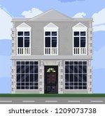 white house facade architecture ... | Shutterstock .eps vector #1209073738