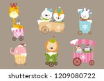 collection of animal cartoon on ... | Shutterstock .eps vector #1209080722