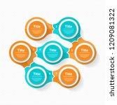 vector circle infographic.... | Shutterstock .eps vector #1209081322