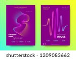electronic music party poster... | Shutterstock .eps vector #1209083662