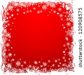 grunge christmas frame with... | Shutterstock . vector #120908575