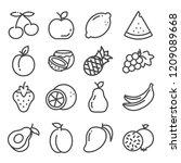 set of outline fruit icons... | Shutterstock .eps vector #1209089668