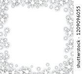 christmas snowflakes frame | Shutterstock .eps vector #1209096055
