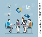 group of business people are... | Shutterstock .eps vector #1209103522