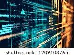 futuristic programming code and ... | Shutterstock . vector #1209103765