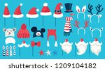 big christmas party props for... | Shutterstock .eps vector #1209104182
