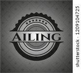 ailing black emblem   Shutterstock .eps vector #1209104725