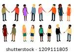 vector isometric people of... | Shutterstock .eps vector #1209111805