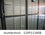 safety closets in bank | Shutterstock . vector #1209111808