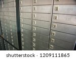 safety closets in bank | Shutterstock . vector #1209111865