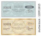 voucher template with guilloche ... | Shutterstock .eps vector #120911815