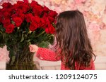 beautiful red roses majestic... | Shutterstock . vector #1209124075
