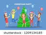 people have fun on the office... | Shutterstock .eps vector #1209134185